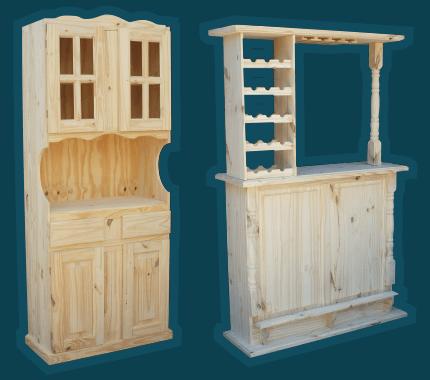 Roperos de pino - Muebles de cocina en madera de pino ...